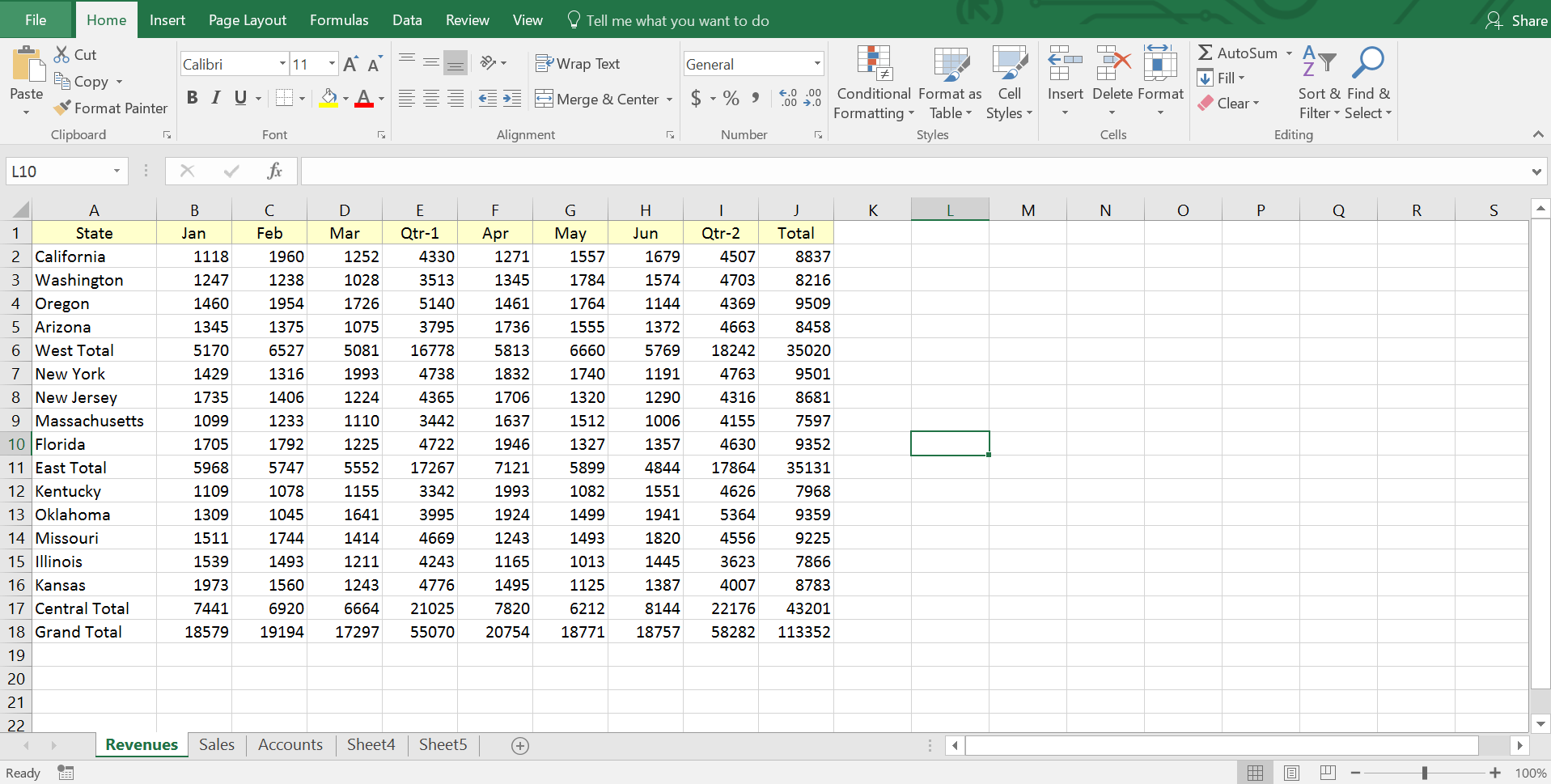 Excel Worksheet Workbook