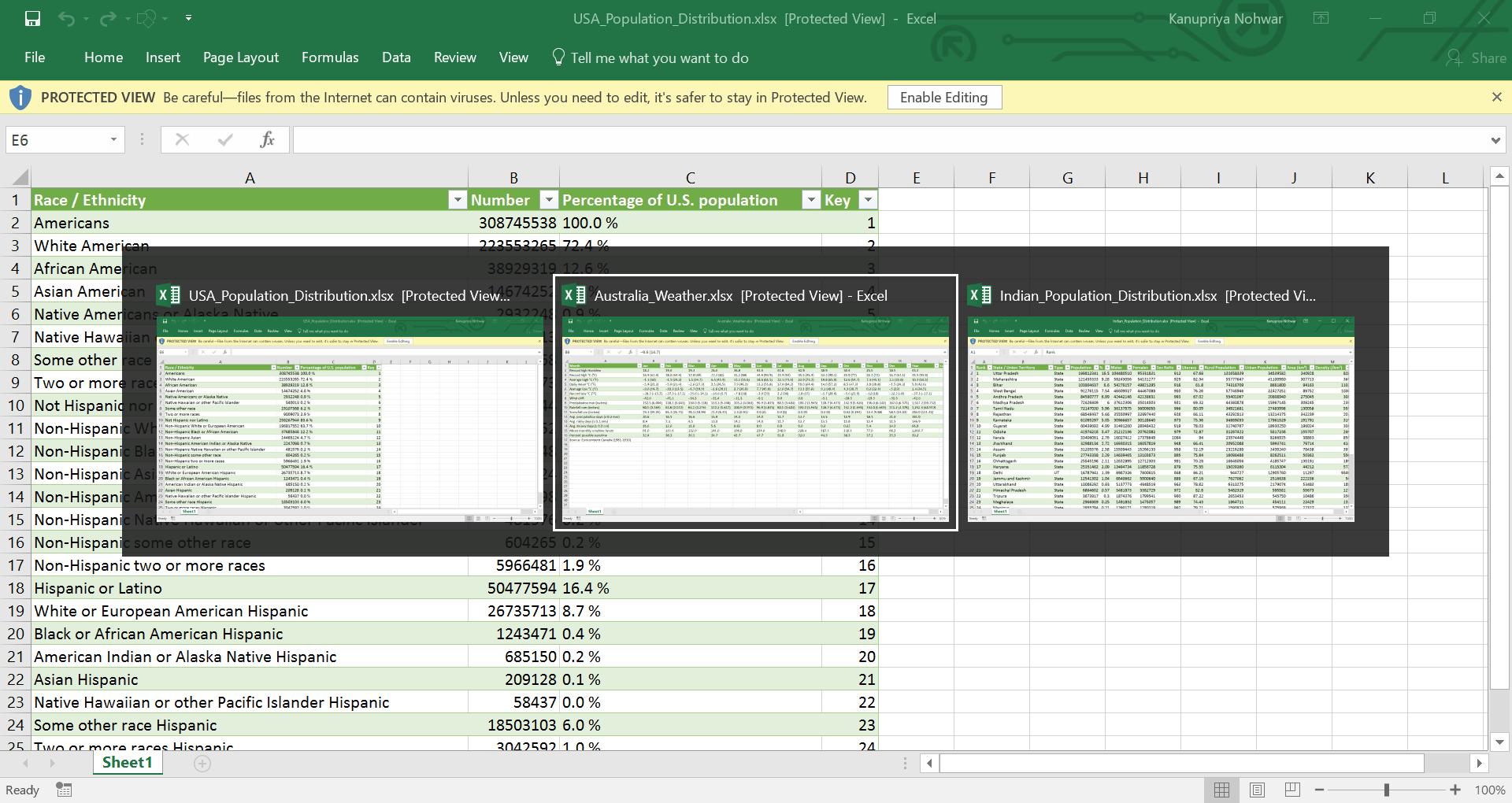 Select Multiple Worksheet