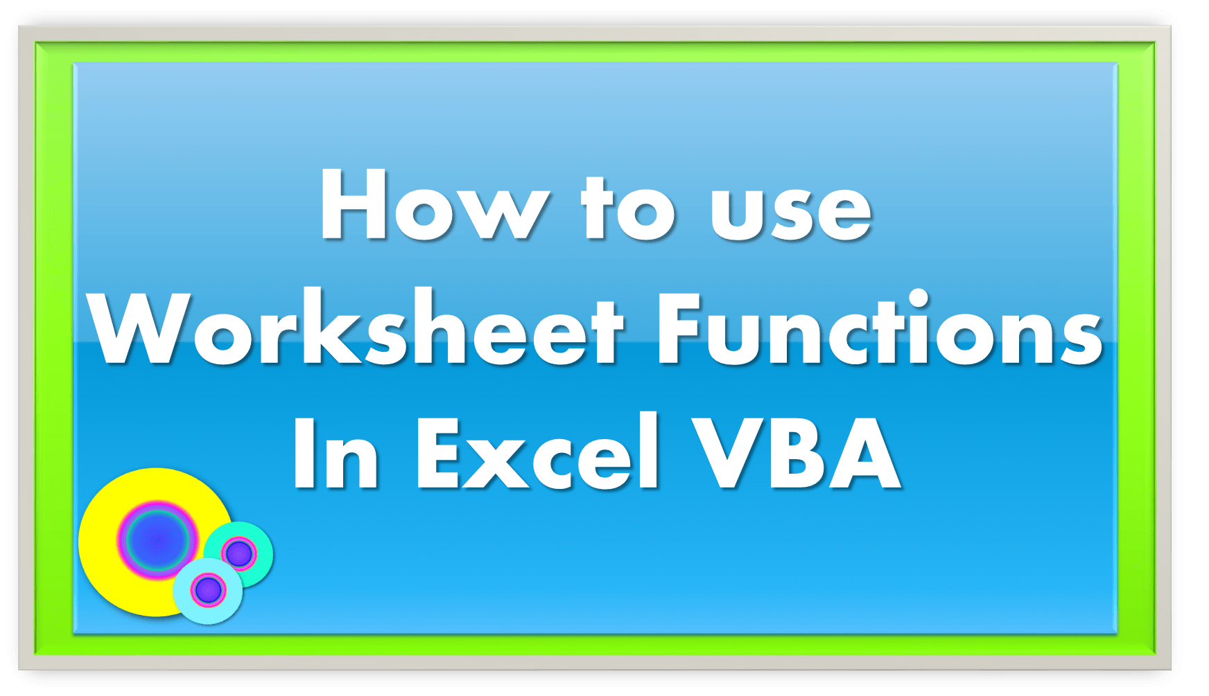 How To Use Index Amp Match Worksheet Functions In Excel Vba