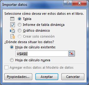 Importar datos desde SQL