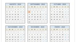 Calendario Escolar Galicia 2020 Y 2019.Calendario Escolar 2018 2019 En Excel Para Imprimir Excelfreak