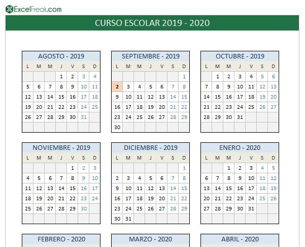 calendario19_20 excelfreak