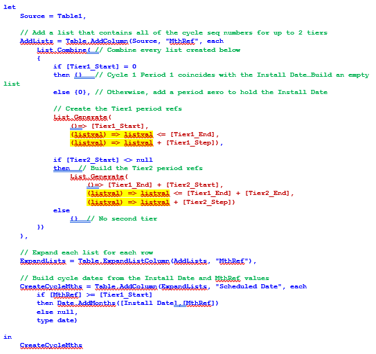 M code for TwoTier_EmbeddedInnerContext highlighted (listval)