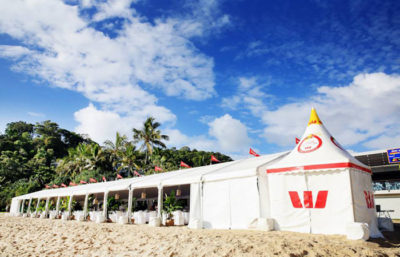 Beach marquee as restaurant for recent food and wine festival