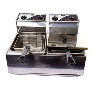 Electric Bench Top Deep Fryer 2x5ltr baskets