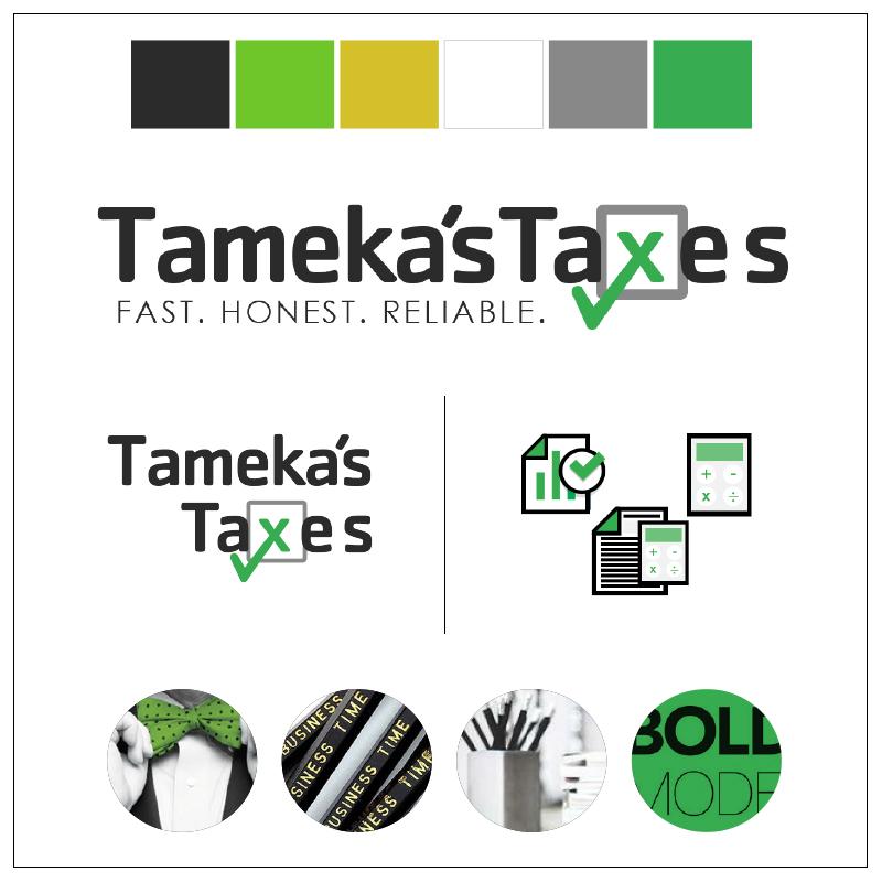 taxes financial management branding logo design