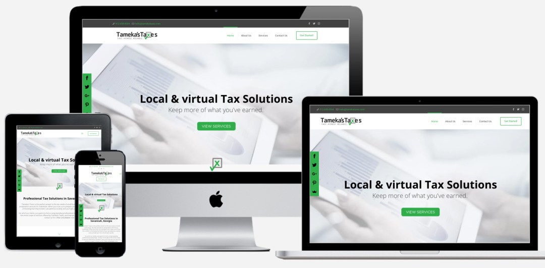 colorado springs web designer taxes accountant website