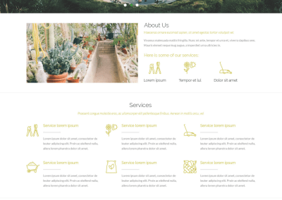 Landscaping / Gardening Website Design