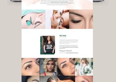 eyelash extensions website design blinxandbeauty - Portfolio