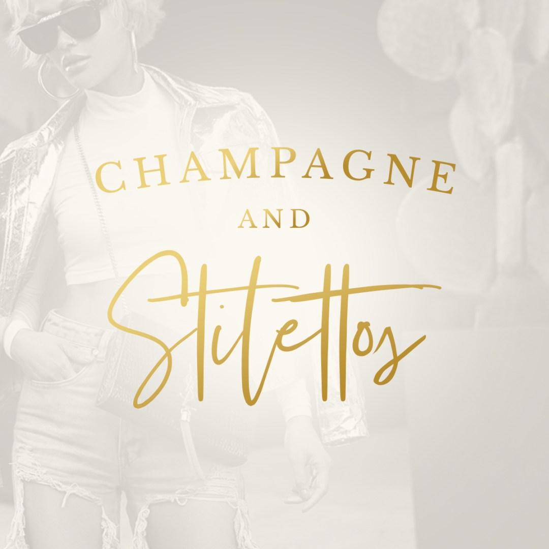 Boutique Brand Design Champagne & Stilettos Boutique