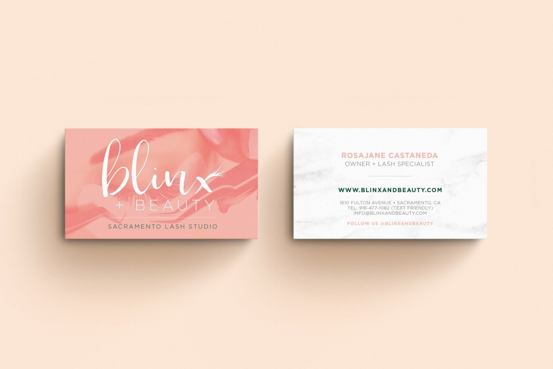 Rosa Business card - Eyelash Extensions Branding & Website