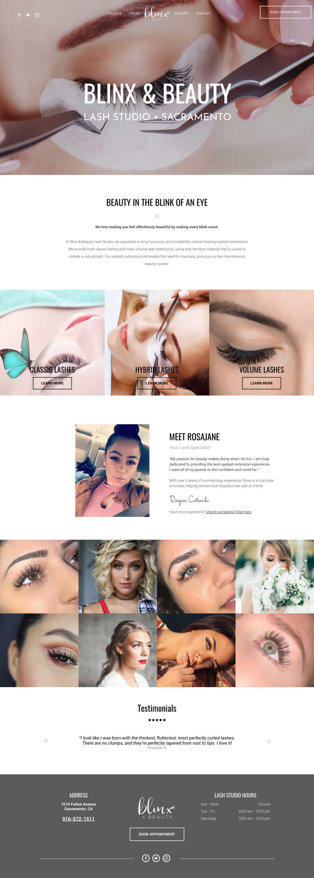 Eyelash Extensions Branding Website Excelled Designs