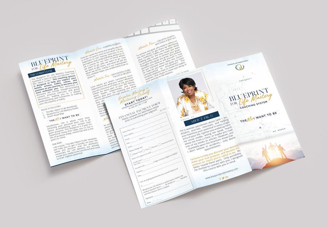 BPFLM Brochure Mock min - Life Coach Course Design