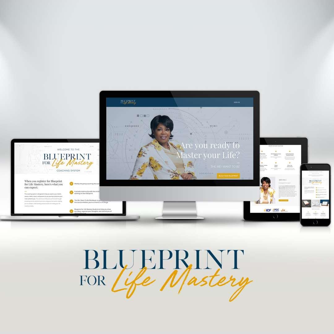 Blueprint Mockup min - Life Coach Course Design