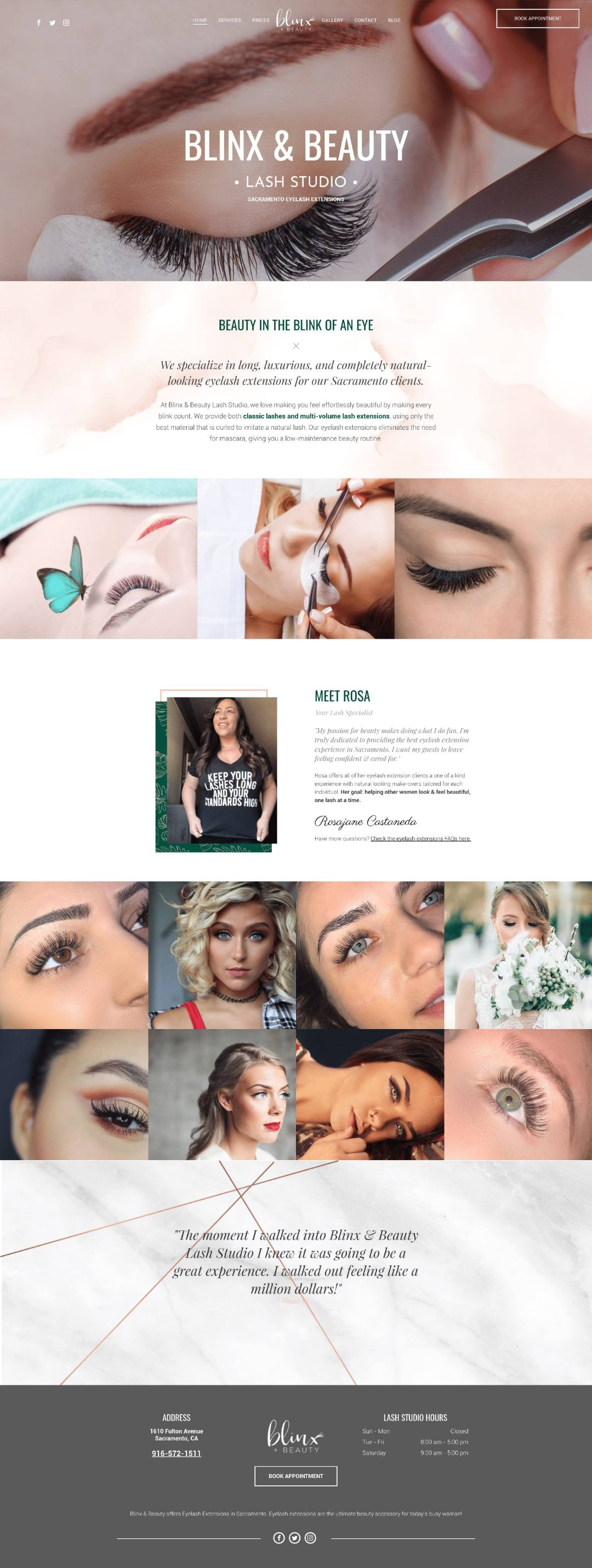 blinxandbeauty eyelash extensions website design min - Eyelash Extensions Branding & Website