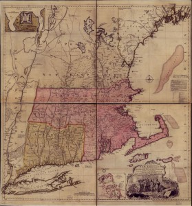 New England colonies map, 1755, Thomas Jefferys (click on image for larger view) Library of Congress: www.loc.gov