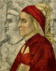 Dante Alighieri, 14th century, engraving after fresco by Giotto in Bargello Chapel