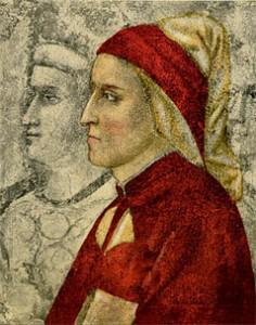 Dante Alighieri, 14th century, engraving after fresco by Giotto in Bargello Chapel