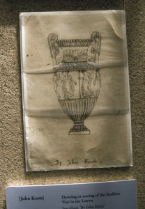 Keats's original drawing of a Grecian urn still survives.