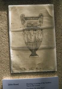 Keats's original drawing of a Grecian urn still survives.