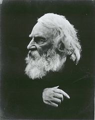 Henry Wadsworth Longfellow on the Isle of Wight, England, in 1868 by Julia Margaret Cameron