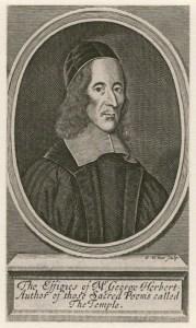 Engraving of George Herbert, poet.