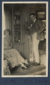 A young T.S. Eliot in 1920, in the company of Lady Ottoline Morell.