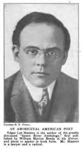 Edgar Lee Masters, as photographed in 1915, illustrating the Edgar Lee Masters biography.