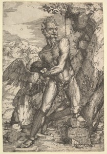 Prometheus, as portrayed by Sebastiano de' Valentinis ca. 1555 or 1558, from The Metropolitan Museum of Art.