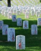 """Dulce et decorum est pro patria mori"" at Arlington National Cemetery in Arlington, Virginia."