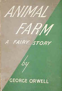 Animal Farm by George Orwell - first edition cover