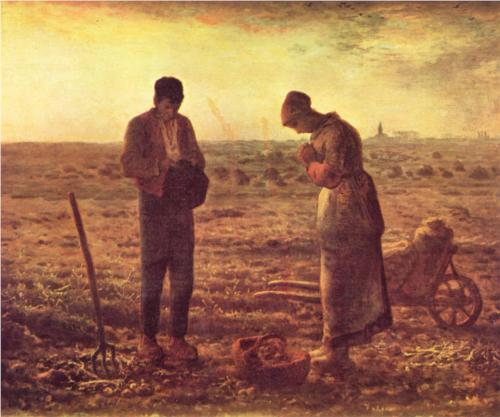 The Angelus by Jean-Francois Millet, 1857-1859