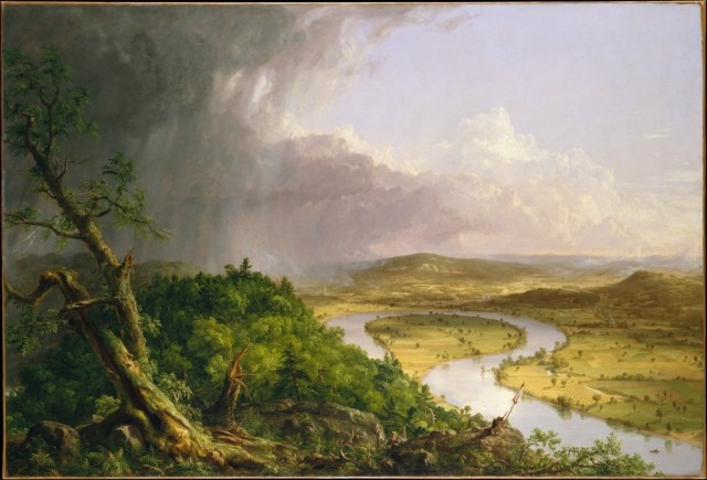 Thomas Cole's 1836 painting, known as The Oxbow, belongs to the Hudson River School of painting.