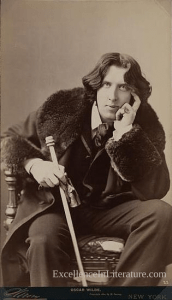 Oscar Wilde, as photographed by Napoleon Sarony c. 1882, from the Library of Congress.