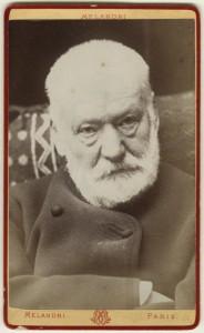 Victor Marie Hugo by Melandri albumen carte-de-visite, early-mid 1880s (NPG Ax17870) © National Portrait Gallery, London