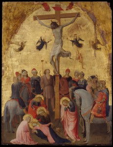 This colorful, inventive, and beautifully painted early Renaissance work by Fra Angelico portrays the crucifixion.