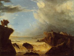 Bruch des Muiderdeiches bei Sturmflut in der Nacht auf den 5.3.1651 (Break of the Muider dyke due to the flood of the night on 5 March 1651), attributed to Jan Asselijn