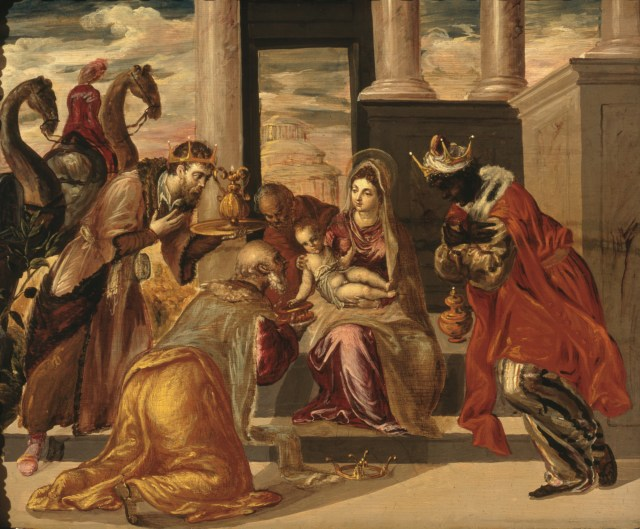"""""""Adoration of the Magi"""" by El Greco seems a fitting illustration for T. S. Eliot's poem, """"Journey of the Magi."""""""