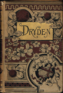 "A book of the poetry of John Dryden, famous for his allegory ""The Hind and the Panther."""