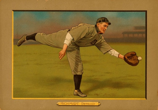 Vintage baseball photo; public domain.