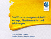 Cover Slides Jo Herget Wissensmanagement Audit