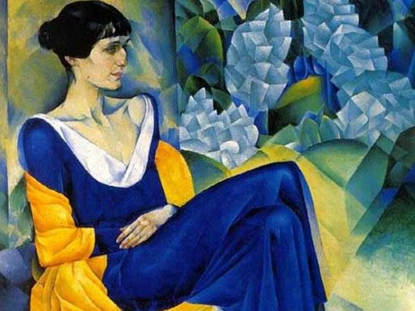 divine avanguardie Arte russa Nathan Alt'man Ritratto di Anna Achmatova 1915