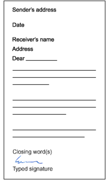 letter writing form Http://wwwscholasticcom business letter format your street address your city, state zip date first and last name of the person to whom you are writing.