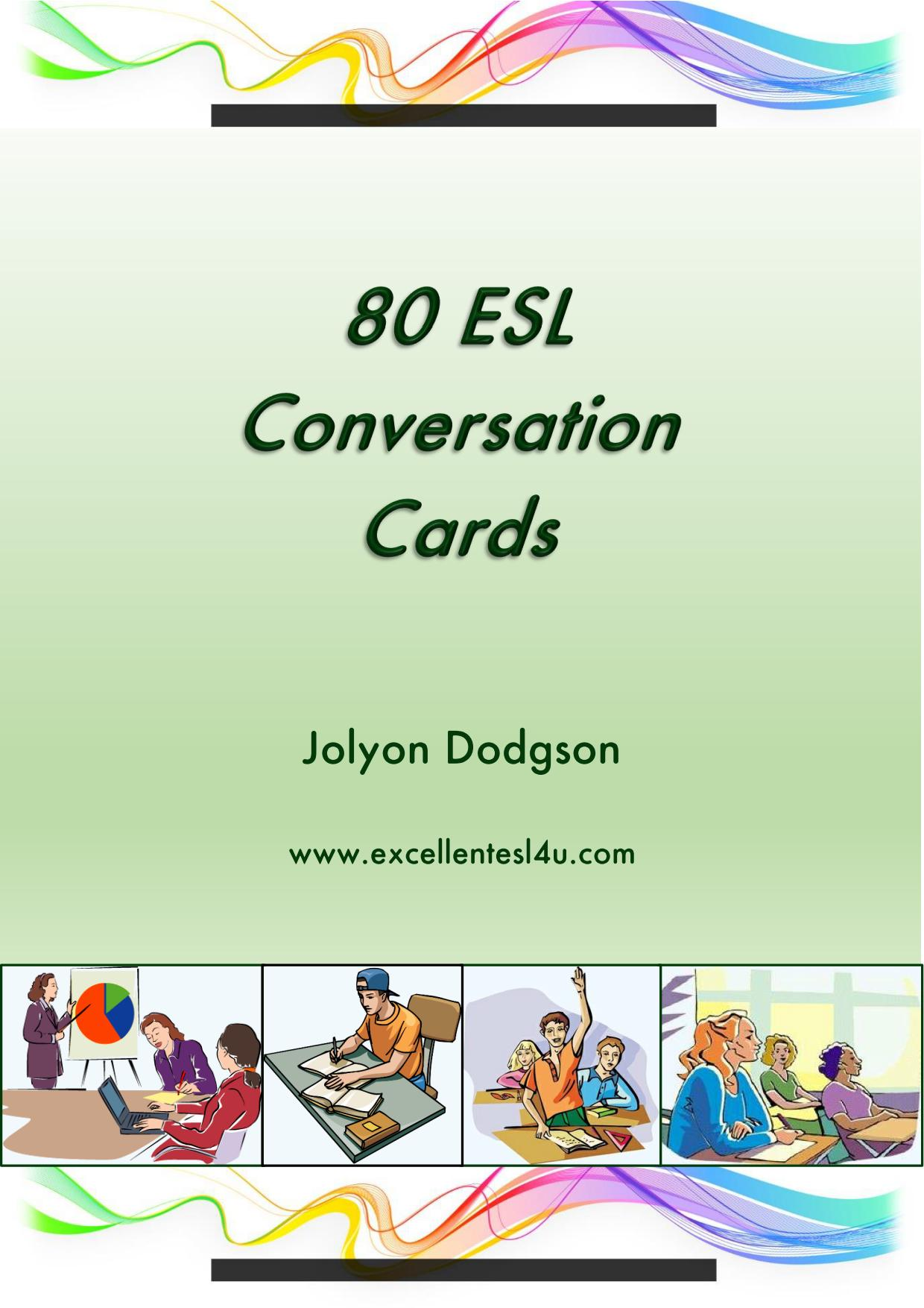 80 Esl Conversation Cards