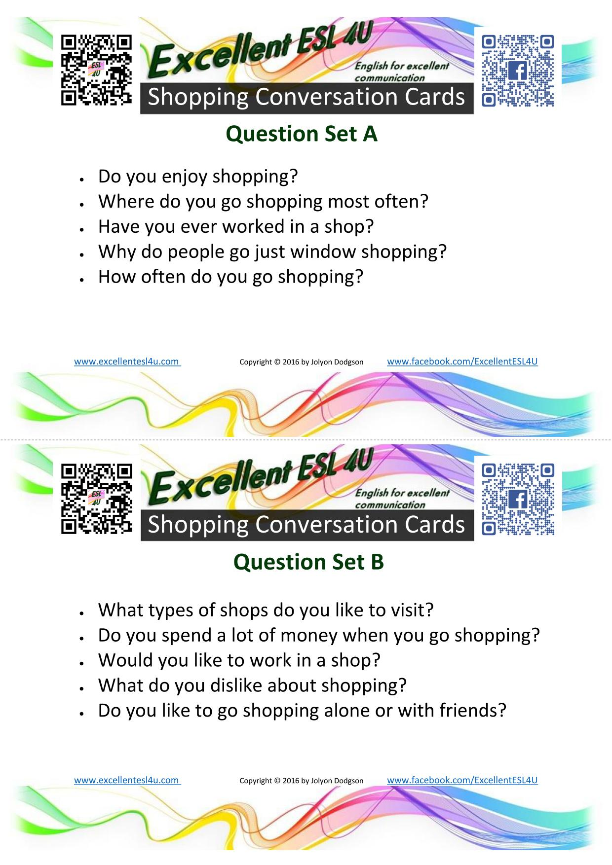 Esl Shopping Conversation
