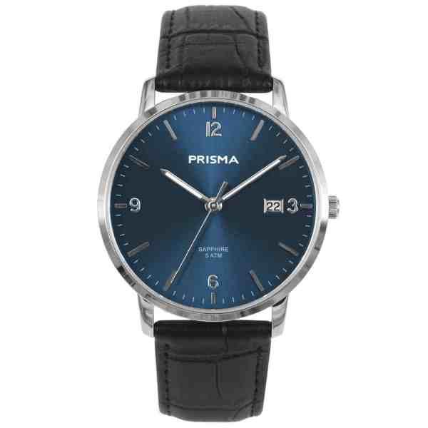 PRISMA-P1645-HEREN-HORLOGE-EDELSTAAL-BLAUW-L