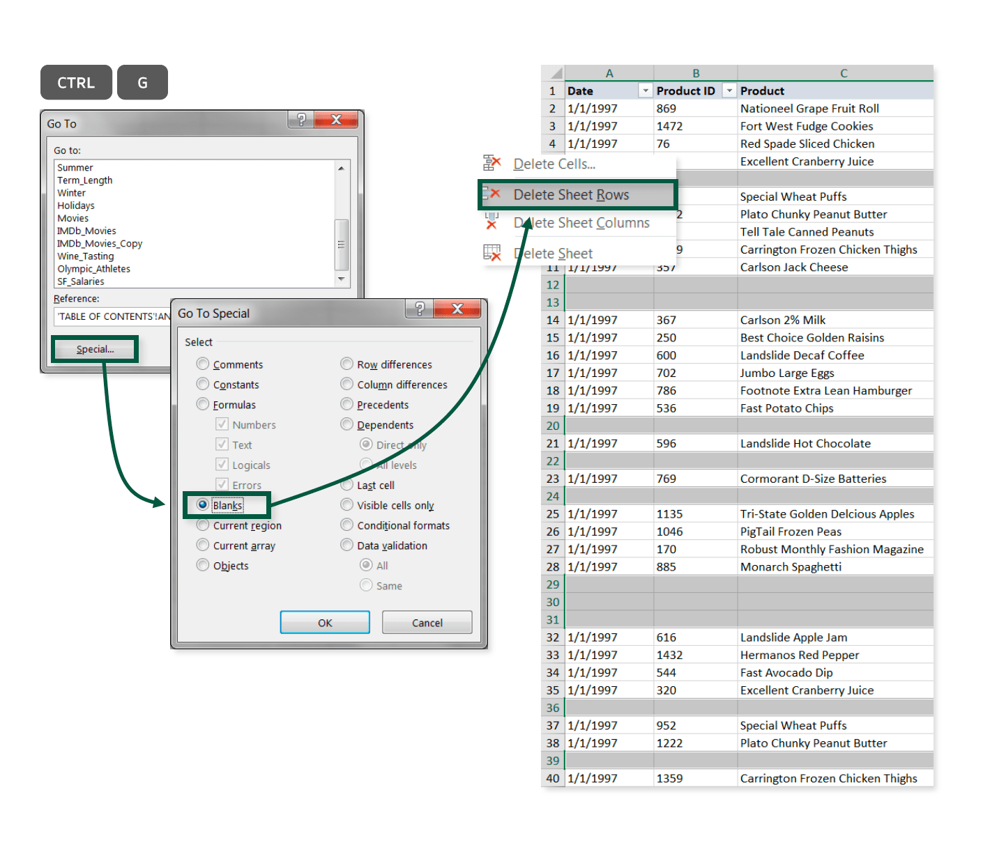 Removing Blank Rows