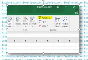 Autosum - Excel for beginners
