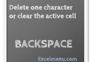 Delete one character or clear the active cell