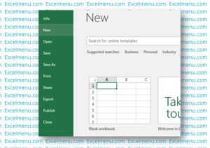 Open a new workbook in Excel